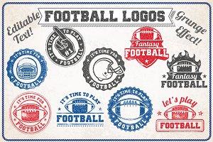 Vector Grunge Football Logos