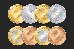 Dollar coins set