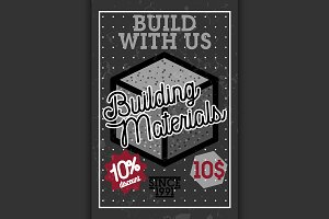 building materials shop banner
