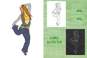Girl breakdancer