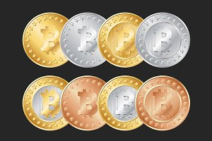 Bitcoins set