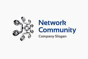 Network Community logo template +