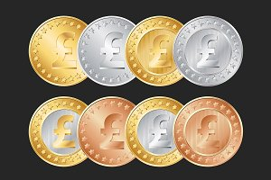 Pound coins set