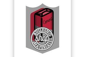 building materials shop emblem
