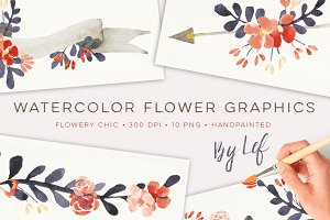 Chic Floral watercolor