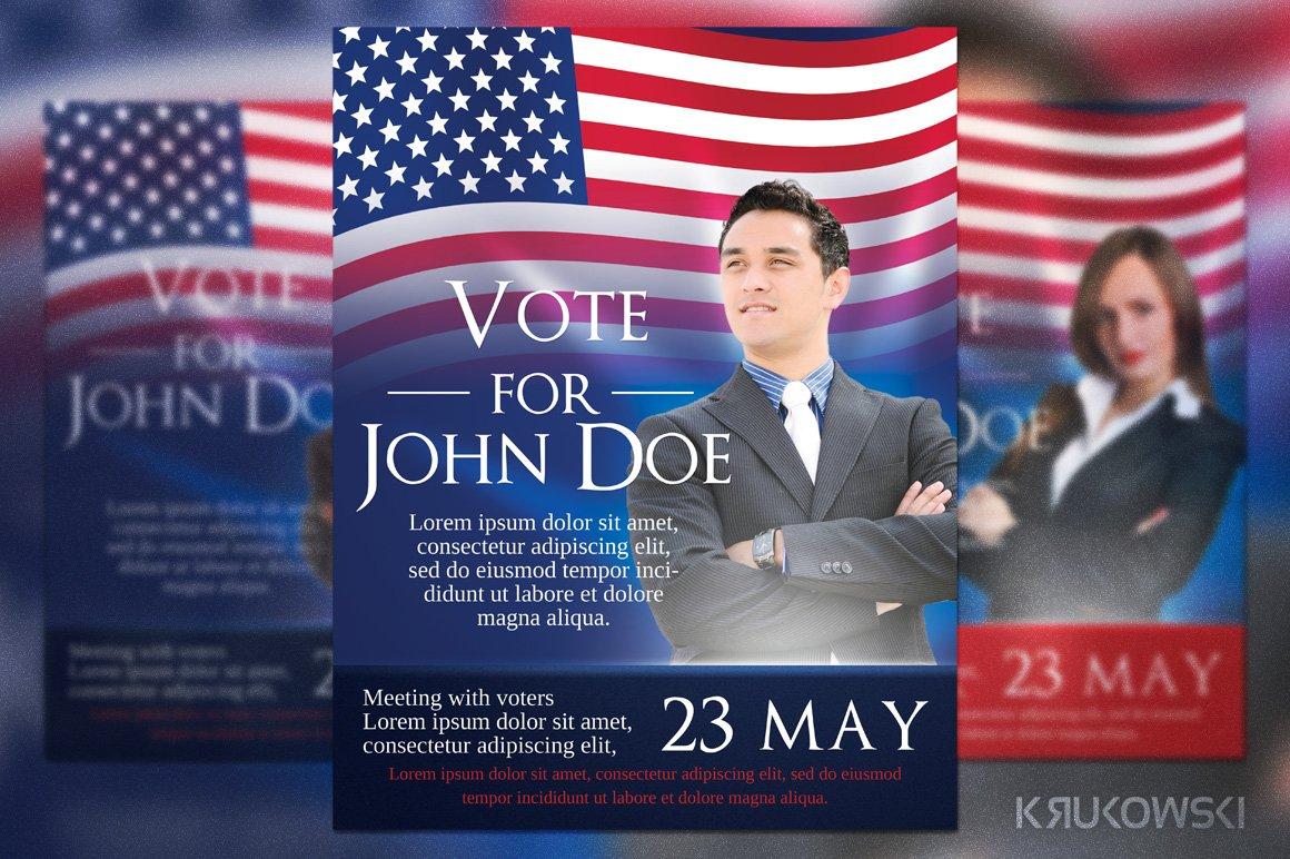 Usa Elections Flyer Flyer Templates Creative Market