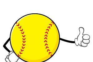 Softball Giving A Thumb Up