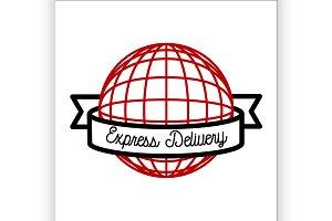 express delivery emblem