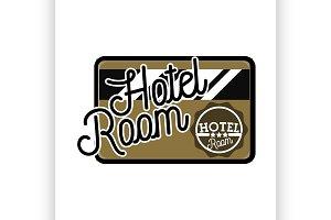 Color vintage hotel emblem