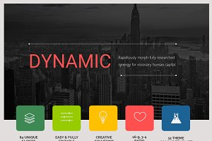 Dynamic presentation template