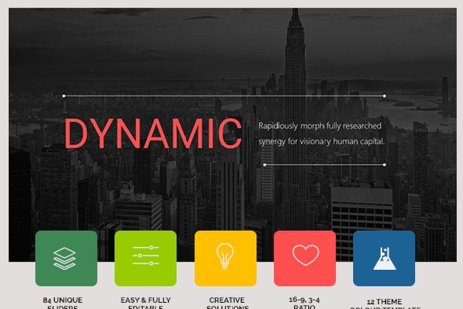 Dynamic Presentation Template Creative Powerpoint Templates Creative Market
