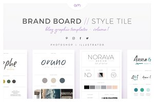 Brand Boards / Style Tiles VOL 1