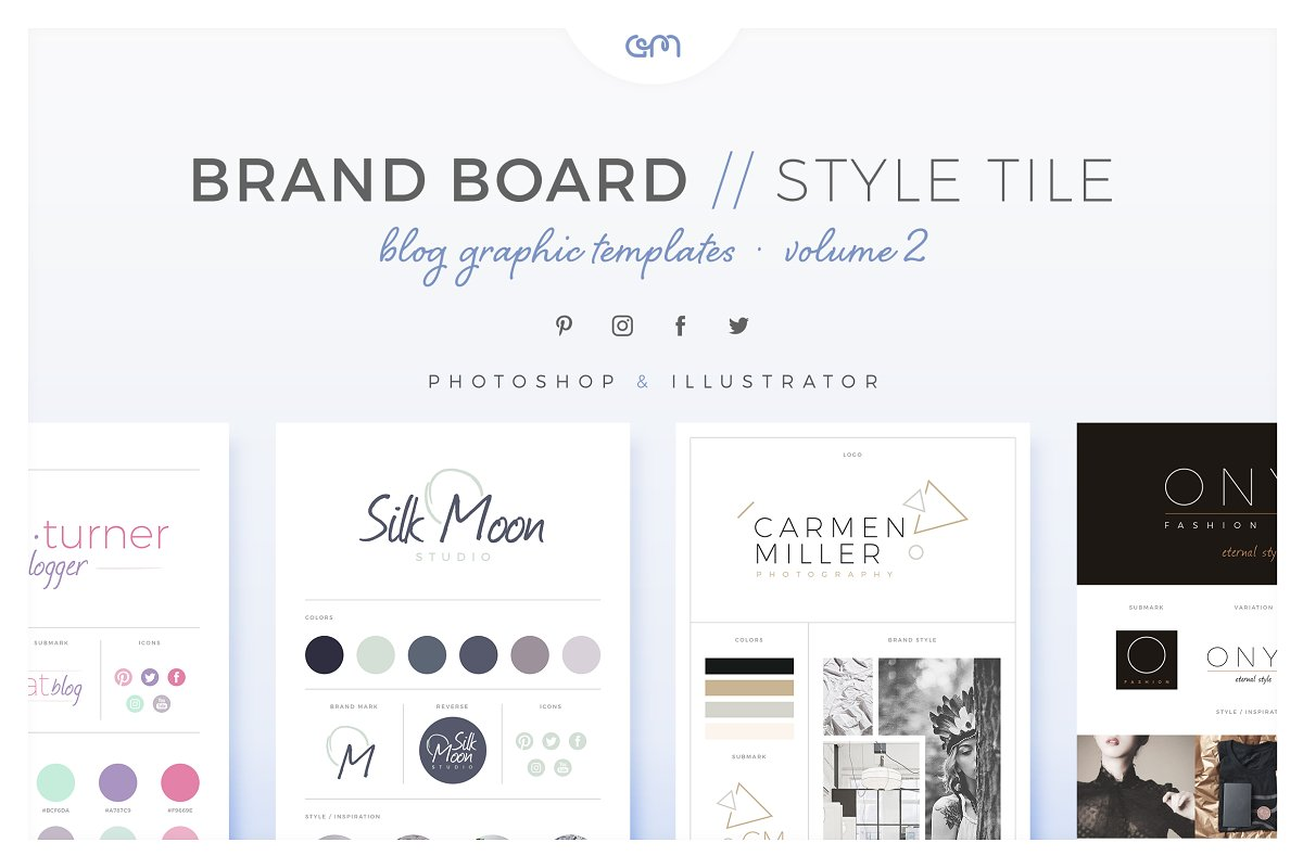 Brand Boards Style Tiles Vol 2 Web Elements Creative Market