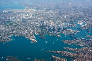 Sydney city from above