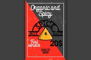 Color vintage spice shop banner