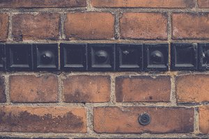 Vintage Brick Wall (Background)