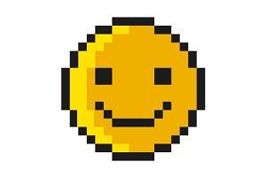 Smiley Pixel Art Style
