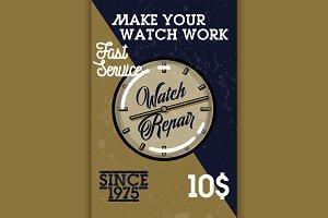 Color vintage watch repair banner