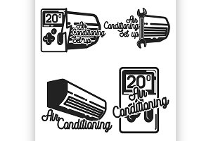 Vintage air conditioning emblems