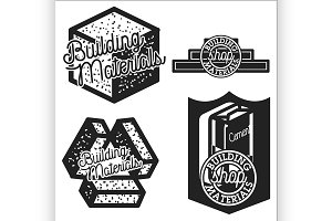 building materials shop emblems