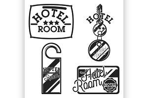 Vintage hotel emblems