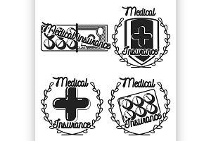 medical insurance emblems