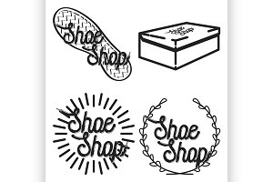 vintage shoe shop emblems