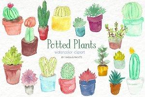 Watercolor Clip Art - Plants