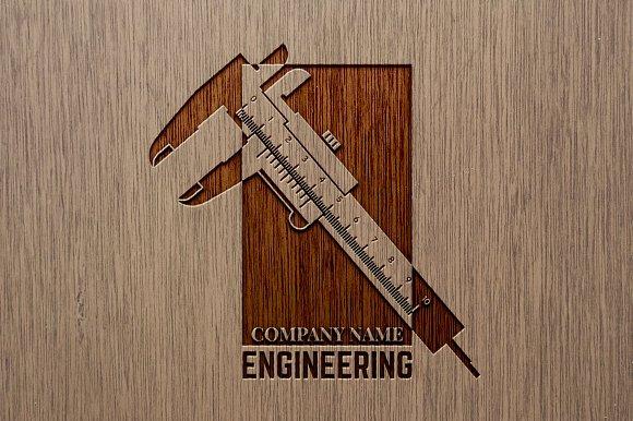 Engineering Company Logo Template Templates Creative Market