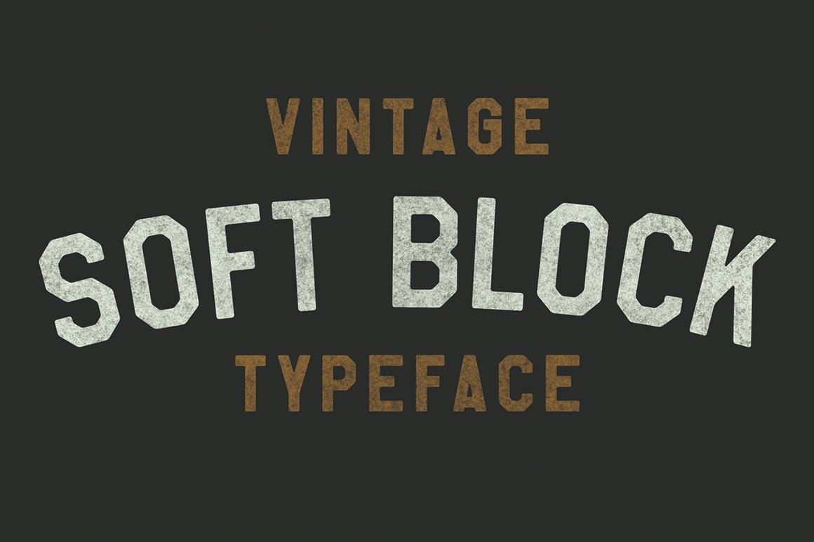 Soft Block Pro Display Fonts Creative Market