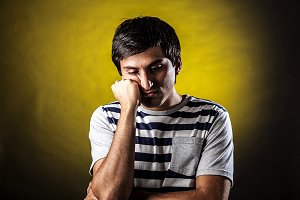 expression of fatigue and boredom