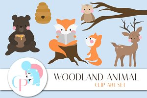 Woodland Animals Clip Art Set