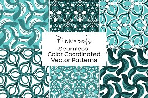 Pinwheels Seamless Vector Patterns