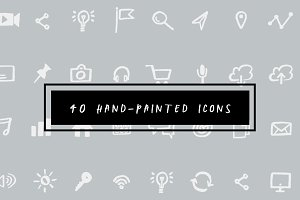 40 Hand-Painted Icons