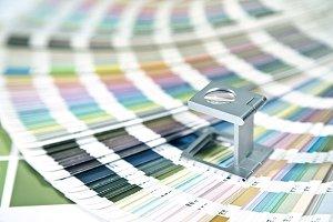 Print test sheet and pantone