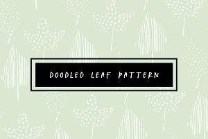Doodled Leaf Pattern