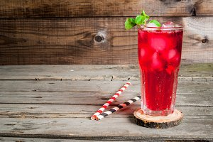 Summer iced red drink