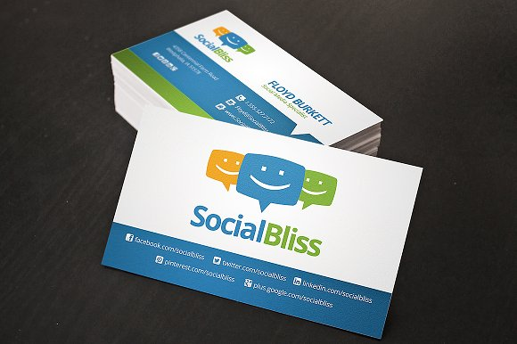 Social media business card business card templates creative market colourmoves