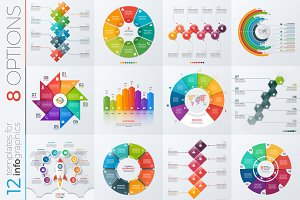12 infographic templates 8 options