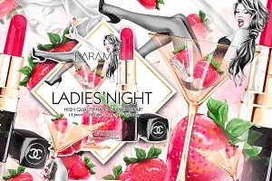 Ladies' Night Fashion Clipart