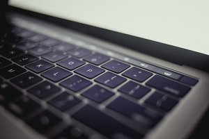 Close up of Laptop Keyboard