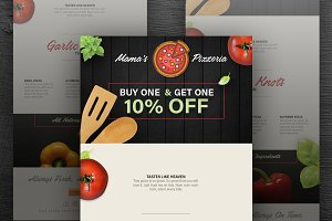 Pizza Delivery Email Template PSD