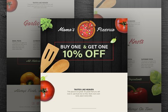pizza delivery email template psd email templates creative market
