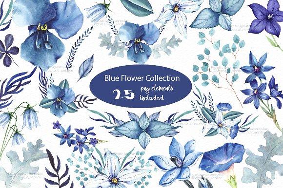 Blue Flower Spring Clipart