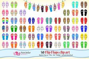 50 Flip Flops clipart