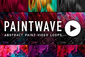 Paintwave—Abstract Paint Video Loops
