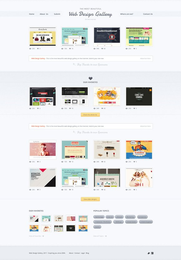Web design gallery psd template website templates creative web design gallery psd template websites pronofoot35fo Choice Image