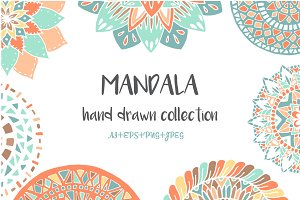 -50%OFF! Hand drawn mandala set