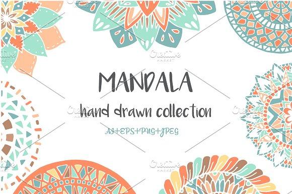 -50%OFF Hand Drawn Mandala Set