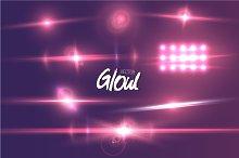 Vector Lens Flare Glow Effect
